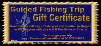 Oregon fishing trips gift certificates guides charters fishing trip gift certificate oregon and washington sample yadclub Gallery